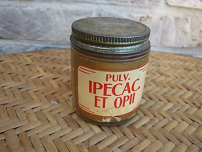 Vintage Pharmacy jar (empty) PULV. IPECAC ET OPII, Standard Drug Co. Richmond VA