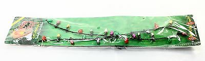 FAMOUS BRAND NEW Lotsa Lites Multicolored Flashing Holiday Necklace Accessory