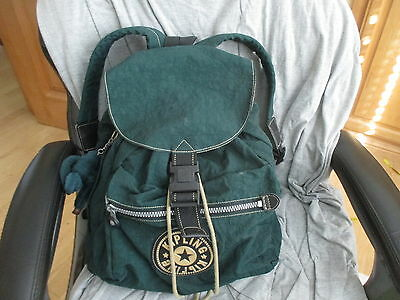 Kipling Green Nylon Large Backpack /rucksack Bag