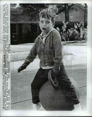 1968 Press Photo 3-Year-Old John Eisele, NASA Astronaut's Son - nef06585