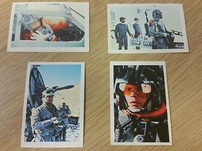 Vintage Star Wars Empire Strikes back F.K.S stickers x 4. U.K, 1980, unused.