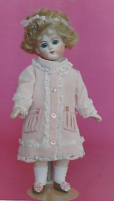 "10""antique Jumeau/bleuette Doll Coat- Dress&underwear Pattern German Child"