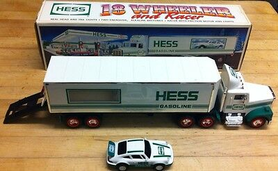 1992 Hess 18-Wheeler and Racer, complete with box!