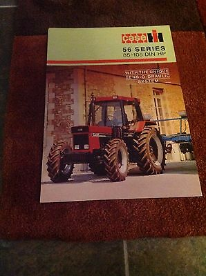 Early grille Case IH 56 series 856 956 1056 XL tractor brochure International