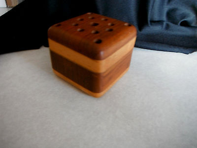 Beautiful Wood Crafted PENCIL PEN HOLDER Wooded Block