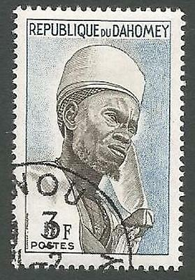 Dahomey Scott# 161, Bariba Chief of Nikki, Unused CTO, OG, Hinged, 1963
