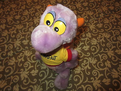 "Disneyland WALT DISNEY WORLD Figment Plush Stuffed Animal Purple Dragon 11"" EUC"