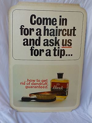NOS Vintage Barber Shop Display of HASK HAIR AND SCALP CONDITIONER