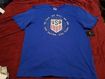 Nike Mens Shirt Blue One Nation Usa Style 838157 Sz 2Xl Nwt