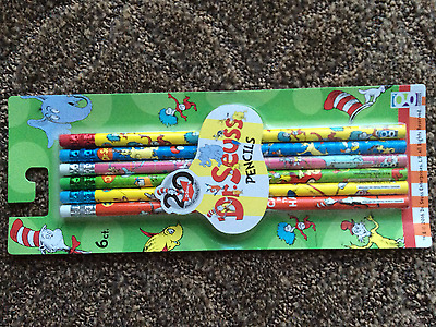 DR SEUSS PENCILS Green Eggs and Ham Sam I Am One Fish Cat in the Hat Doctor