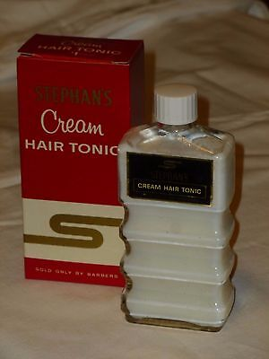 NOS  Vintage Barber Stephan's CREAM HAIR TONIC