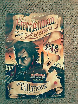 GREGG ALLMAN BROTHERS signed FILLMORE POSTER Trout Klopp Original F315 Phillips