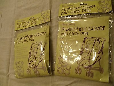 Hey Baby Pushchair Cover with Carry Bag Black Bugnet Stroller Accessory