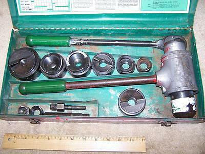 "Nice Greenlee 1904/1906SB Ratchet Knockout Punch Set for ½"" - 2"" Conduit"
