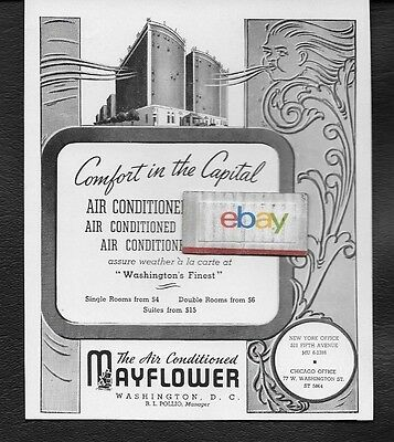The Mayflower Hotel In Washington D.c. Comfort In The Capital 1940 Ad