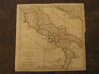 1738 ORIGINAL Large Map of Italy