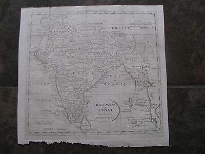 1798 ORIGINAL Map of Hindoostan or India from the Best Authorities