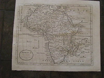 1787 ORIGINAL Map of Africa by Thomas Kitchin
