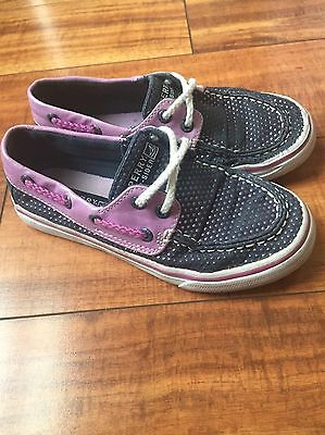 Sperry Top Sider BAHAMA Purple/Blue Boat Shoes Sneakers Size 13 GUC
