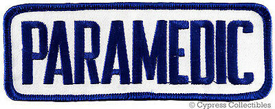PARAMEDIC embroidered iron-on PATCH Star of Life Ambulance EMT/EMS new SHOULDER
