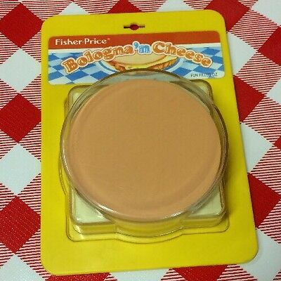 VTG 1987 Fisher Price Fun Play Food Pretend Sandwich Bologna Cheese Replacement