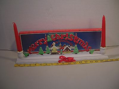 Vintage Christmas Decoration Merry Christmas Candle Holder