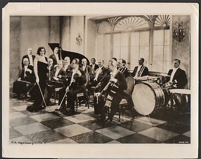 Hungarian violinist conductor EDITH LORAND and her orchestra VINTAGE ORIG PHOTO