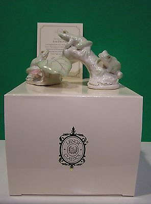 LENOX LAZY DAY FROG sculpture NEW in BOX with COA