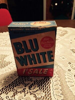 Blue White Full Laundry Soap Box 3 Ounces