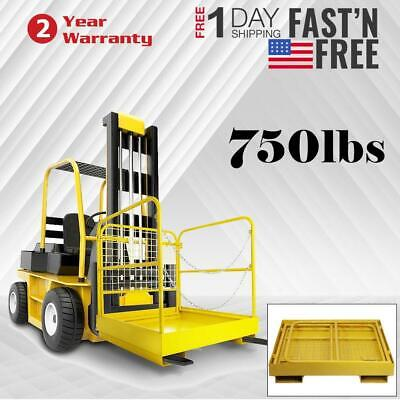 Yellow Forklift Work Platform Safety Cage Collapsible Lift Basket Fence Aerial