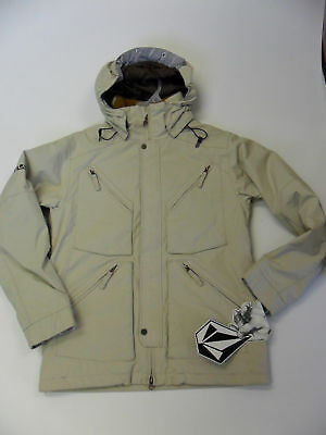 "VOLCOM Men's ""Opulance"" Snow Jacket Beige Small NWT"