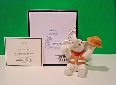 LENOX COWBOY UP! ELEPHANT sculpture NEW in BOX with COA