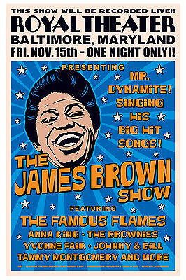 GodFather of Soul: James Brown at  Baltimore Concert Poster 1963