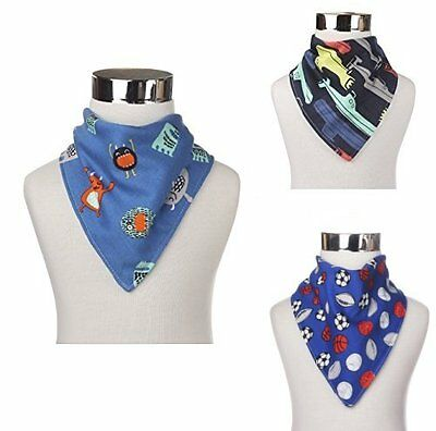 Bandana Bibs For Baby/Toddler Cute Stylish Patterns for Baby Boys (3 Pack)