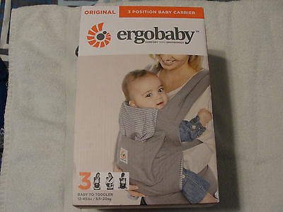 NEW In Box! Ergobaby Original 3 Position Baby Carrier Gray - Free Shipping