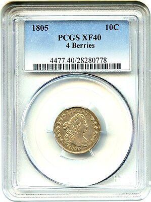 1805 10c PCGS XF40 (4 Berries) Bust Dime - Early Type Coin