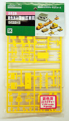 Greenmax No.2528 Track Maintenance Car (Yellow Painted) (1/150 N scale)
