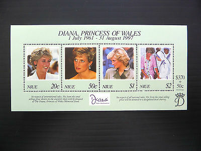 NIUE Wholesale 1997 Diana M/Sheet x 50 Unmounted Mint NEW LOWER PRICE FP1178
