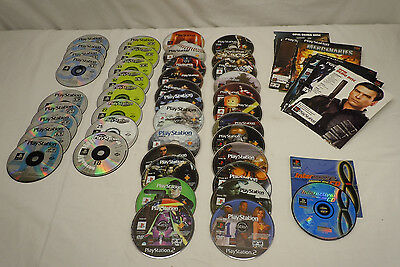 41 Playstation Magazine PS1 PS2 Demo Sample Disc Lot