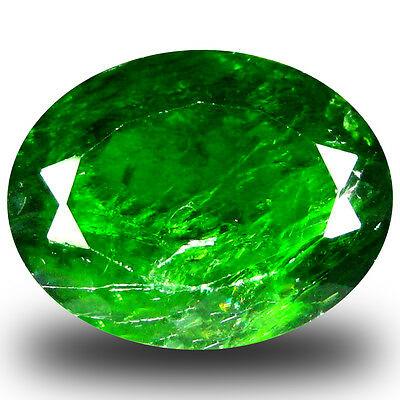 5.47 ct  Good-looking Oval Shape (12 x 9 mm) Green Chrome Diopside Gemstone
