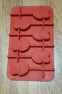 Heart cake pop silicone mould excellent condition