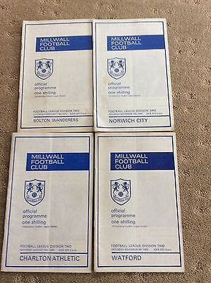 Millwall Football Programmes (4) - Season 1969/70 - Excellent Condition