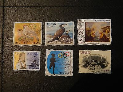 Iceland Stamp 6 GU issued 1995-96 SG 848,855,858/59,865,869 values to 200k.