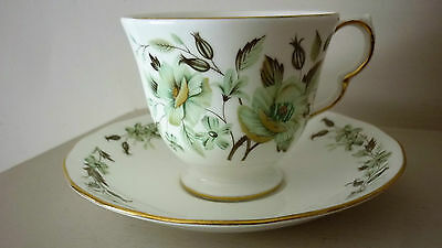Colclough Bone China Hand Painted Sedgley 8648 Pattern Cup and Saucer