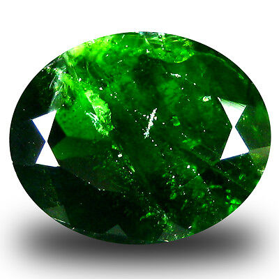 5.24 ct  Incomparable Oval Shape (12 x 10 mm) Green Chrome Diopside Gemstone