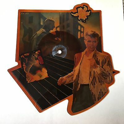 """David Bowie - Loving The Alien - Scarce shaped 7"""" picture disc (tea stained)"""