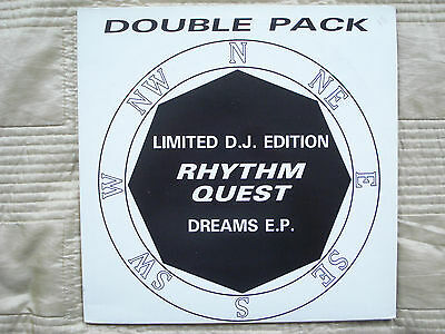 """RHYTHM QUEST The Dreams EP CLOSER TO ALL YOUR DREAMS 2x12"""" MINT 1992 Hardcore"""