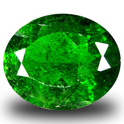 4.40 ct  Incredible Oval Shape (12 x 10 mm) Green Chrome Diopside Gemstone