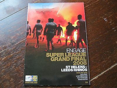 Rugby Super League Grand Final 2008 St Helens v Leeds Rhinos. Old Trafford. NEW