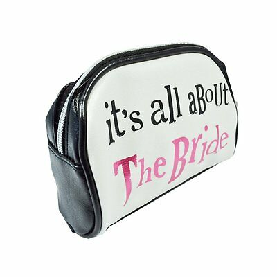 Bright Side Make Up Bag 'It's all about the bride'